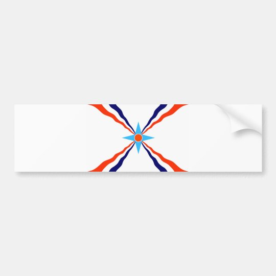 assyrian people flag bumper sticker