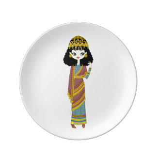 "Assyrian Queen 8.5"" Decorative Porcelain Plate 2"