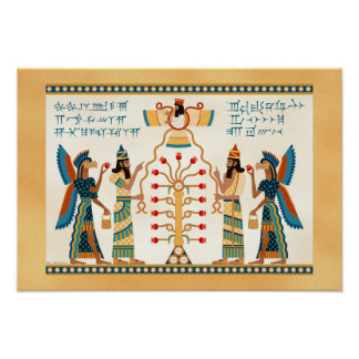 Assyrian Tree of Life Poster