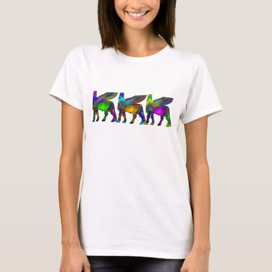 Assyrian Winged bull colour Tshirt