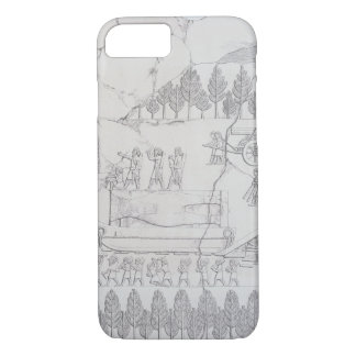 Assyrians moving a Winged Bull on a Sledge, from ' iPhone 8/7 Case