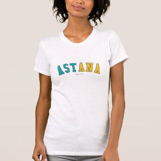 Astana in Kazakhstan national flag colors T-Shirt