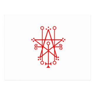 Astaroth Demon Sigil Gothic Postcard
