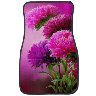Aster Autumn Flowers Art Design Car Mat