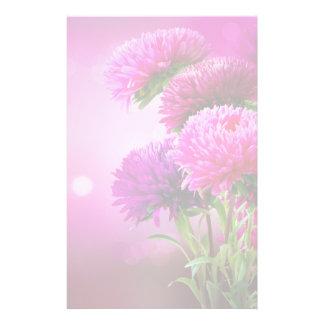 Aster Autumn Flowers Art Design Stationery Design