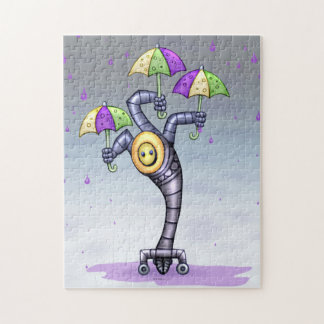 ASTER CUTE ROBOT CARTOON PUZZLE 11 X 14