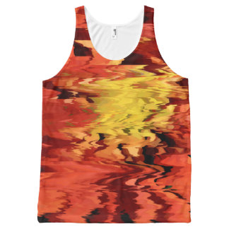 Aster in the Wind All-Over Print Tank Top