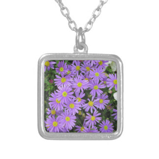 Aster Purple Yellow Green Necklace
