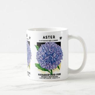 Aster Vintage Seed Packet Mugs