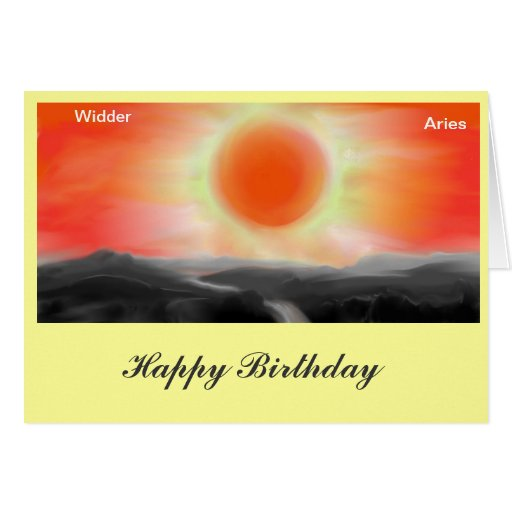 Asterisk Aries, Aries birthday map Cards
