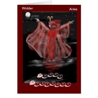 Asterisk Aries, Aries birthday map Card