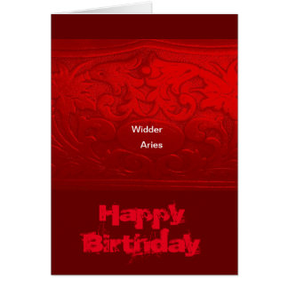 Asterisk Aries, Aries birthday map Note Card