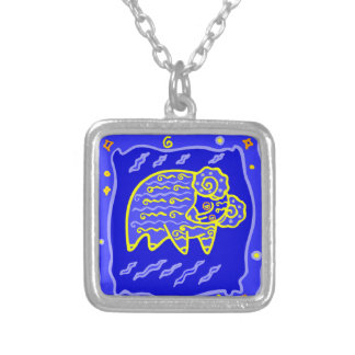 Asterisk Aries as supporters Silver Plated Necklace