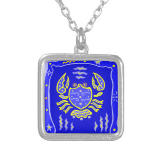 Asterisk cancer as supporters silver plated necklace