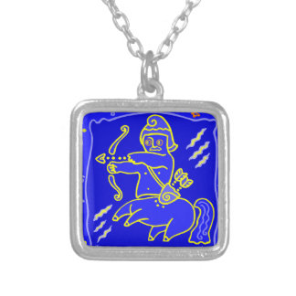 Asterisk contactor as supporters silver plated necklace