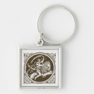 Asterisk lion zodiac leo lion key ring