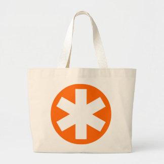 Asterisk - Orange Jumbo Tote Bag