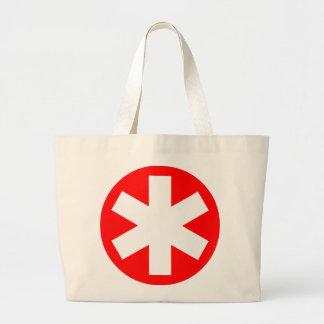 Asterisk - Red Jumbo Tote Bag