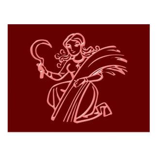 Asterisk virgin zodiac sign Virgo Postcard