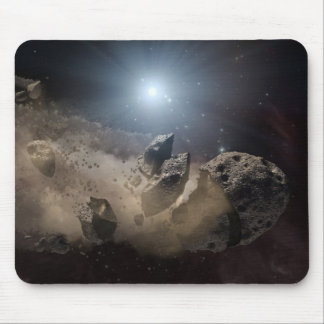 Asteroid bites the dust PIA11735 Mouse Mat
