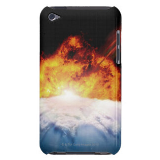 Asteroid Colliding with Earth iPod Touch Covers