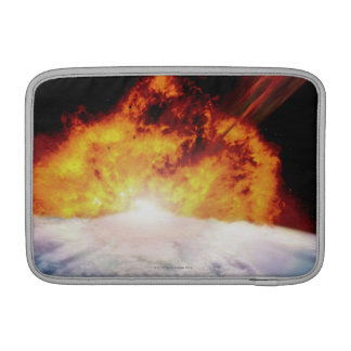 Asteroid Colliding with Earth MacBook Sleeve