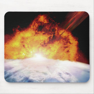 Asteroid Colliding with Earth Mouse Mat