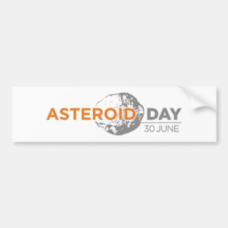 Asteroid Day stickers, long Bumper Sticker