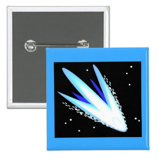 Asteroid In Cerulean Blue Pinback Buttons