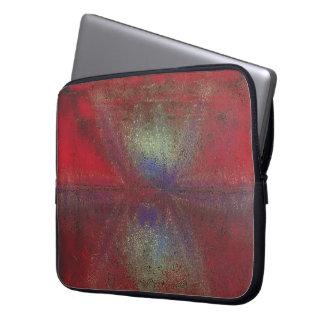 Asteroid Strike Digital Abstract Laptop Computer Sleeve