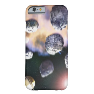 Asteroids and red star by Saturn ( Barely There iPhone 6 Case