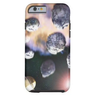 Asteroids and red star by Saturn ( Tough iPhone 6 Case
