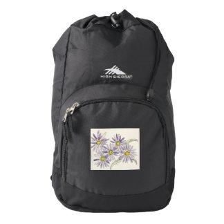 Asters backpack from Nan Henke original watercolor