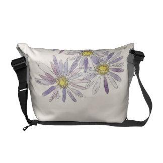 Asters bag from Nan Henke original watercolor Messenger Bags