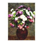 Asters in a Vase - Henri Fantin-Latour painting Gallery Wrap Canvas
