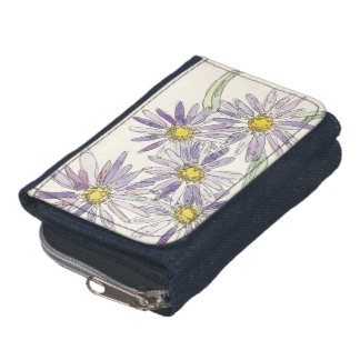 Asters wallet from Nan Henke original watercolor