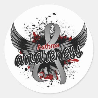 Asthma Awareness 16 Round Sticker