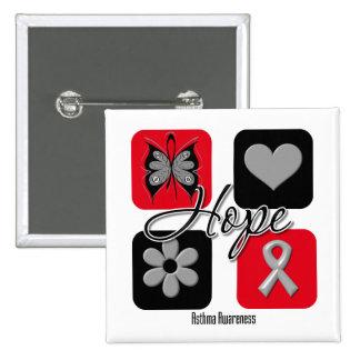 Asthma Hope Love Inspire Awareness 15 Cm Square Badge