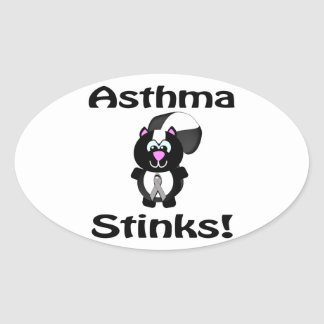 Asthma Stinks Skunk Awareness Design Stickers