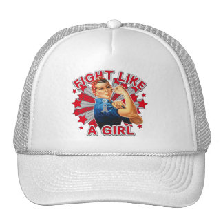 Asthma Vintage Rosie Fight Like A Girl Hats