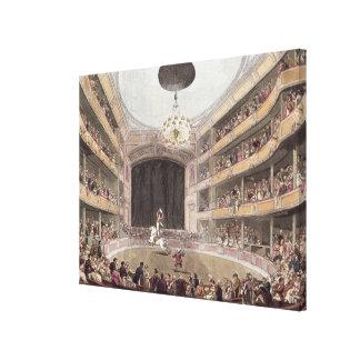 Astley's Amphitheatre from Ackermann's Canvas Print