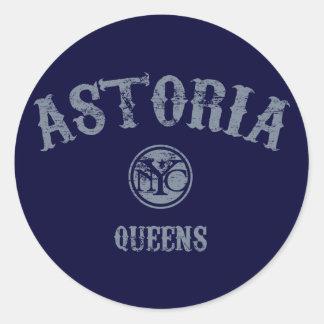 Astoria Classic Round Sticker