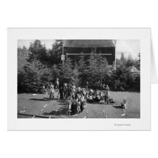 Astoria Oregon Indian War Dance at Centennial Greeting Cards