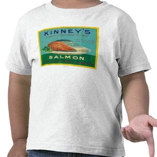 Astoria Oregon - Kinney s Salmon Case Label Shirt