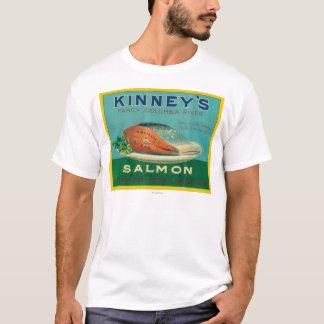 Astoria, Oregon - Kinney's Salmon Case Label T-Shirt