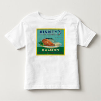 Astoria, Oregon - Kinney's Salmon Case Label Toddler T-Shirt