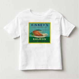 Astoria, Oregon - Kinney's Salmon Case Label Shirts
