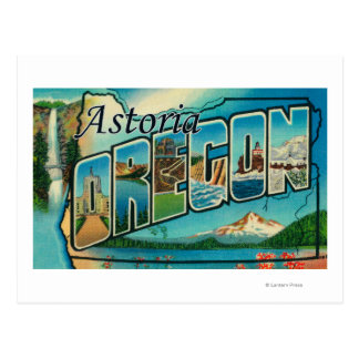 Astoria, Oregon - Large Letter Scenes Postcard