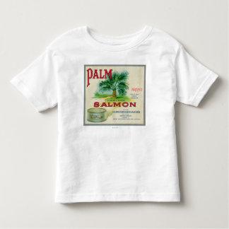 Astoria, Oregon - Palm Salmon Case Label Toddler T-Shirt