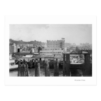 Astoria, Oregon Scene with Ferry Slip Postcard